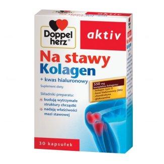 Doppelherz Aktiv Na stawy Kolagen  z kwasem hialuronowym, 30 kapsułek - zdjęcie produktu