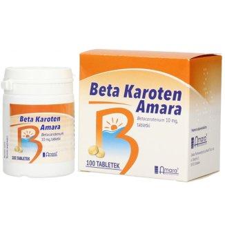 Beta Karoten Amara 10 mg, 100 tabletek - zdjęcie produktu