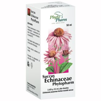 Succus Echinaceae Phytopharm 2,425 g/ 2,5 ml, płyn doustny, 50 ml - zdjęcie produktu