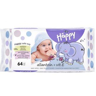 Bella Baby Happy, chusteczki z witaminą E, 64 sztuki - zdjęcie produktu