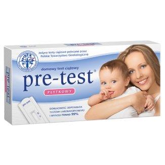 Pre-Test, test ciążowy, płytkowy, 1 sztuka - zdjęcie produktu