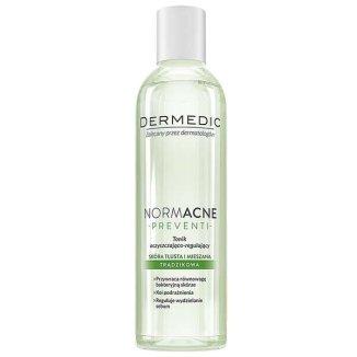 Dermedic NormAcne Preventi, tonik oczyszczająco-regulujący, skóra tłusta, mieszana i trądzikowa, 200 ml - zdjęcie produktu