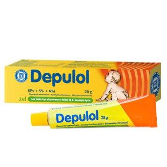 Depulol (5% + 5% + 6%)/ 100 g, żel dla dzieci od 6 miesiąca, 20 g - zdjęcie produktu