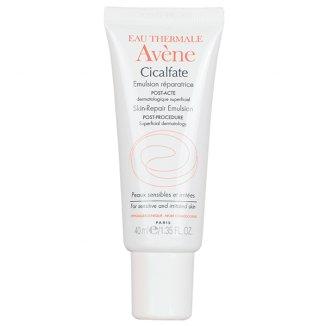 Avene Cicalfate, emulsja regenerująca do twarzy po zabiegach, skóra podrażniona i wrażliwa, 40 ml - zdjęcie produktu