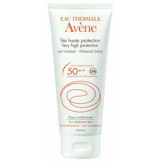 Avene Sun, ochronne mleczko mineralne do twarzy i ciała, skóra nadwrażliwa, SPF50+, 100 ml - zdjęcie produktu