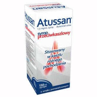 Atussan 1,5 mg/ ml, syrop, smak pomarańczowy, 150 ml - zdjęcie produktu
