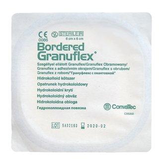 Granuflex Bordered, opatrunek hydrokoloidowy na rany przewlekłe, 6 cm x 6 cm, 1 sztuka - zdjęcie produktu