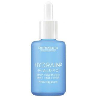 Dermedic Hydrain 3 Hialuro, serum nawadniające twarz, szyję i dekolt, skóra sucha, 30 ml - zdjęcie produktu