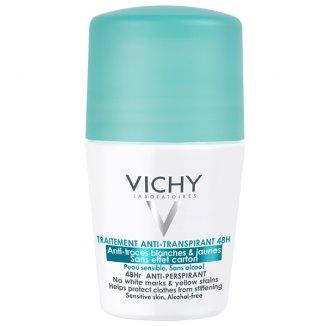 Vichy, antyperspirant roll-on 48h, przeciw śladom na ubraniach, 50 ml - zdjęcie produktu