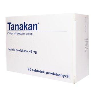 Tanakan 40 mg, 90 tabletek (import równoległy) - zdjęcie produktu