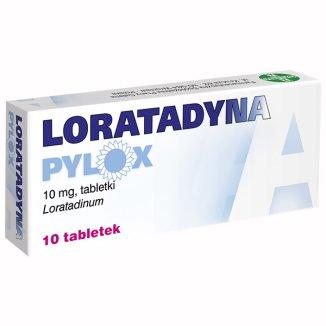 Loratadyna Pylox 10 mg, 10 tabletek - zdjęcie produktu