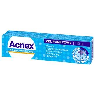 Acnex, żel punktowy do skóry trądzikowej, 15 g - zdjęcie produktu