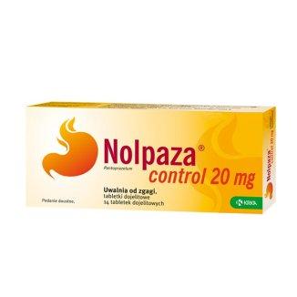 Nolpaza Control 20 mg, 14 tabletek dojelitowych - zdjęcie produktu