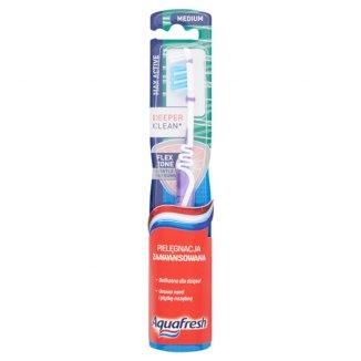 Aquafresh, szczoteczka do zębów, Max-Active clean deep, Medium, 1 sztuka - zdjęcie produktu