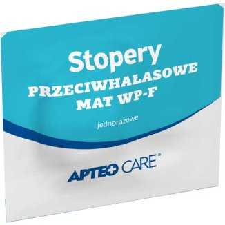 Apteo Care, stopery przeciwhałasowe MAT WP-F, jednorazowe, 2 sztuki - zdjęcie produktu