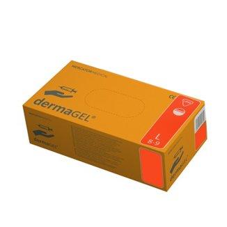 Dermagel, rękawice lateksowe, niejałowe, niepudrowane, rozmiar L, 100 sztuk - zdjęcie produktu