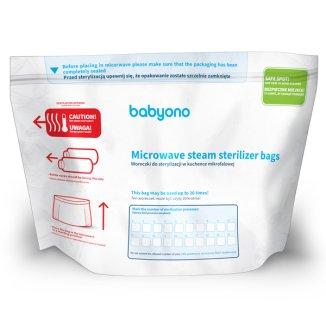 BabyOno, woreczki do sterylizacji w kuchence w mikrofalowej, 5 sztuk - zdjęcie produktu