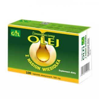 GAL Olej z nasion wiesiołka, zimnotłoczony, 100 kapsułek elastycznych - zdjęcie produktu