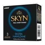 Unimil Skyn Ekstra Nawilżene, prezerwatywy nielateksowe, 3 sztuki - miniaturka zdjęcia produktu