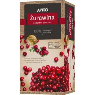 Apteo Żurawina, herbatka owocowa, 2,5 g x 20 saszetek - zdjęcie produktu