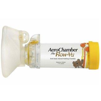 AeroChamber Plus Flow-Vu, komora inhalacyjna z maską dla dzieci, 1-5 lat, Medium, 1 sztuka - zdjęcie produktu