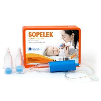 Sopelek, aspirator do nosa, od urodzenia + końcówki do aspiratora z filtrem, 3 sztuki - zdjęcie produktu