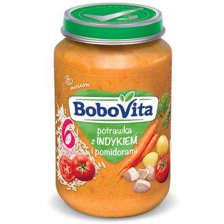 BoboVita, Obiadek, domowa potrawka z indykiem i pomidorami, po 6 miesiącu, 190 g - zdjęcie produktu