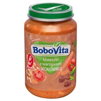 BoboVita, Obiadek, kluseczki z warzywami i wołowiną, po 9 miesiącu, 190 g - zdjęcie produktu