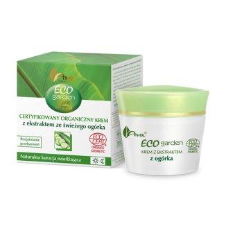 AVA Eco Garden, krem z ekstraktem ze świeżego ogórka 20 +, 50 ml - zdjęcie produktu
