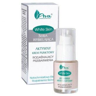 AVA White Skin, aktywny krem punktowy rozjaśniający przebarwienia, 15 ml - zdjęcie produktu