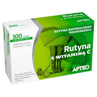 Apteo Rutyna z witaminą C, 100 tabletek - zdjęcie produktu