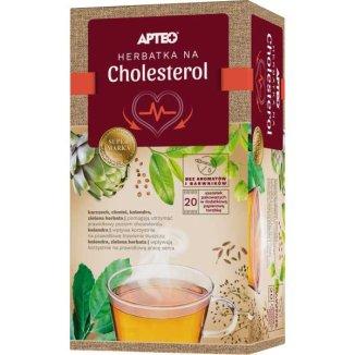 Apteo Herbatka na cholesterol, ziołowo-owocowa, 2 g x 20 saszetek - zdjęcie produktu