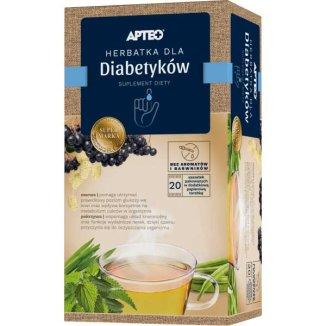 Apteo Herbatka dla diabetyków, 2 g x 20 saszetek - zdjęcie produktu