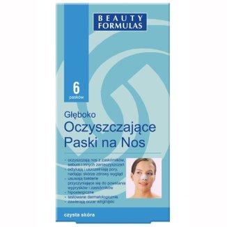 Beauty Formulas, paski na nos głęboko oczyszczające z oczarem wirginijskim, 6 sztuk - zdjęcie produktu