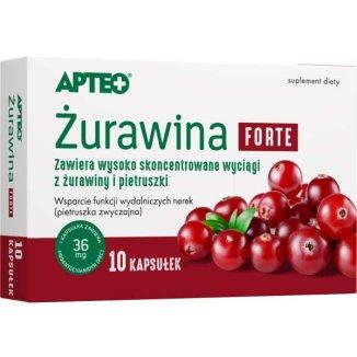 Apteo Żurawina Forte, 10 kapsułek - zdjęcie produktu