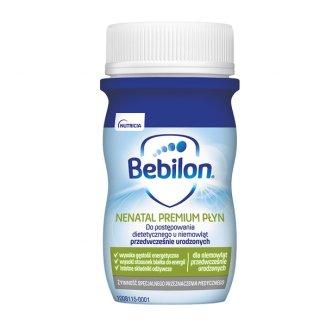 Bebilon Nenatal Premium, dla niemowląt przedwcześnie urodzonych, płyn gotowy do spożycia, 70 ml - zdjęcie produktu