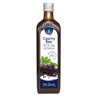 Oleofarm Soki Świata Czarny bez, 100% sok z owoców, 490 ml - zdjęcie produktu