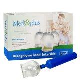 Med Plus, bańki lekarskie, bezogniowe, 12 sztuk + pompka  - miniaturka zdjęcia produktu