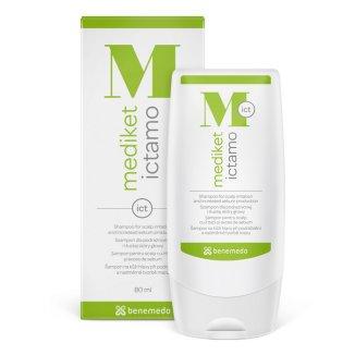 Mediket Ictamo, szampon dla podrażnionej i tłustej skóry głowy, 80 ml - zdjęcie produktu