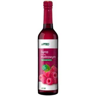 Apteo Syrop o smaku malinowym, 430 ml - zdjęcie produktu