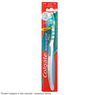 Colgate, szczoteczka do zębów, Navigator Plus, Soft, 1 sztuka - zdjęcie produktu