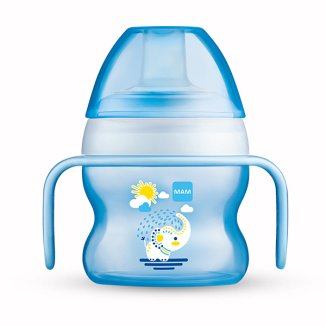 MAM Starter Cup, kubek niekapek z bardzo miękkim ustnikiem i uchwytami, od 4 miesiąca, 150 ml - zdjęcie produktu