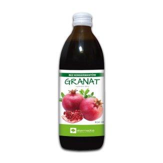 Alter Medica, sok z granatu, 500 ml - zdjęcie produktu