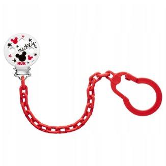 NUK, łańcuszek do smoczka uspokajającego, Myszka Miki, 1 sztuka - zdjęcie produktu