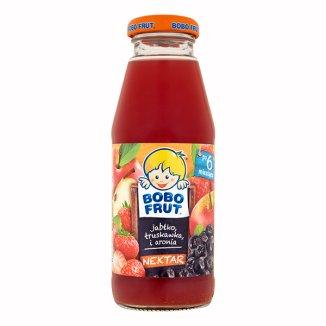 Bobo Frut, nektar jabłko, truskawka i aronia, po 6 miesiącu, 300 ml - zdjęcie produktu