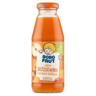 Bobo Frut Sok 100%, jabłko, brzoskwinia, marchewka, winogrona, po 6 miesiącu, 300 ml - zdjęcie produktu