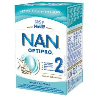 Nestle NAN Optipro 2, mleko następne dla niemowląt powyżej 6 miesiąca, 800 g - zdjęcie produktu