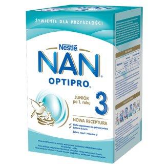 Nestle NAN Optipro 3, mleko modyfikowane Junior dla dzieci po 1 roku, 800 g KRÓTKA DATA - zdjęcie produktu