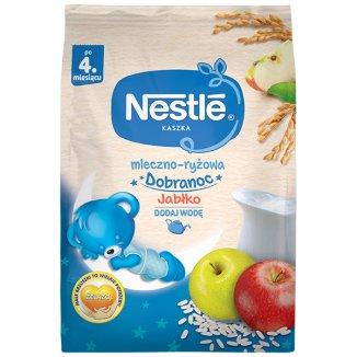 Nestle Dobranoc Kaszka mleczno-ryżowa, jabłko, po 4 miesiącu, 230 g - zdjęcie produktu