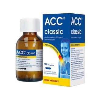 ACC Classic, 20 mg/ml, roztwór doustny od 3 roku, smak wiśniowy, 100 ml - zdjęcie produktu